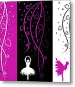 At The Ballet Triptych 2 Metal Print