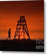 At The Beach In The Morning Metal Print