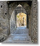 At The End Of The Passageway Metal Print