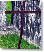 At The Old Rusty Cross Metal Print
