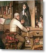 At The Pawnbroker Metal Print by Thomas Reynolds Lamont