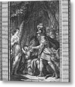 Atalanta And Meleager Metal Print