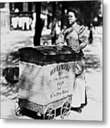 Atget: Delivering Bread Metal Print