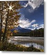 Athabasca River With Mount Fryatt Metal Print