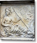 Athena Relief In Gdansk Metal Print