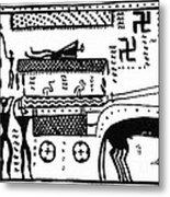Athenian Chariot Metal Print