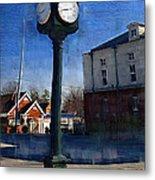 Athens Alabama City Clock Metal Print