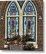 Athens Alabama First Presbyterian Church Stained Glass Window Metal Print