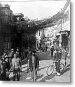 Athens Greece  C 1903 - Aeolos Street And The Stoa Of Hadrian Metal Print