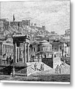 Athens: Marketplace Metal Print