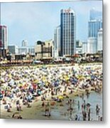 Atlantic City Beach Metal Print
