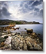 Atlantic Coast In Newfoundland Metal Print