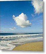Atlantic Ocean Waves Break On The Beach Metal Print