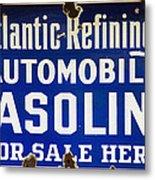 Atlantic Refining Co Sign Metal Print
