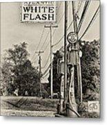 Atlantic White Flash Metal Print