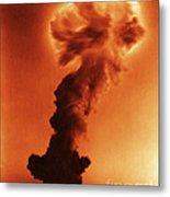 Atomic Bomb Explosion Metal Print