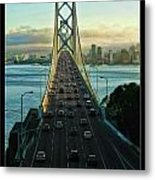 Atop Of San Francisco Bay Bridge Metal Print