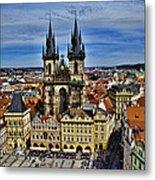 Atop The Clock Tower - Prague Metal Print