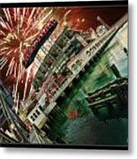 Att Park And Fire Works Metal Print
