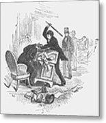 Attack On Sumner, 1856 Metal Print by Granger