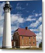 Au Sable Lighthouse 5 Metal Print