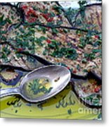Aubergine In Olive Oil Metal Print