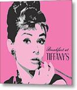 Audrey Hepburn - Pop Art Portrait Metal Print