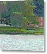 Augusta River Front Row Houses Metal Print