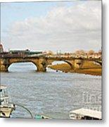 Augustus Bridge Dresden Germany Metal Print