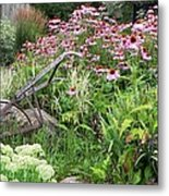 Aunt Christy's Garden Metal Print by Jennifer Compton