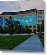 Aurora Municipal Center Hdr Metal Print by Sergio Aguayo