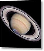 Aurora On Saturn Metal Print