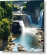 Ausable River Water Falls Metal Print