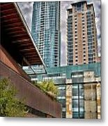 Austin Condo Towers - Hdr Metal Print