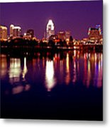 Austin Sky Line In December 2004 Metal Print by Lisa  Spencer