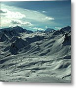 Austria Snow Mountain Metal Print