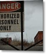 Authorized Personnel Metal Print
