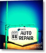 Auto Repair Sign On Route 66 Metal Print