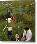 Automated Weather Monitoring Station Metal Print