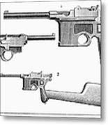 Automatic Pistols Metal Print