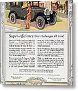 Automobile Ad, 1926 Metal Print