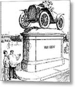 Automobile Cartoon, 1914 Metal Print