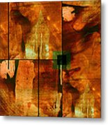 Autumn Abstracton Metal Print by Ann Powell