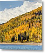 Autumn At Huntington Reservoir - Wasatch Plateau - Utah Metal Print