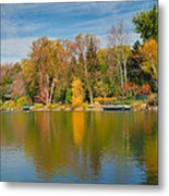 Autumn At Mill Pond Park Metal Print by Luba Citrin