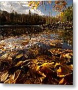 Autumn At Ragged Falls Metal Print