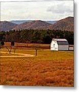 Autumn Barn In Green Bank Wv Metal Print