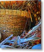 Autumn Basket Metal Print