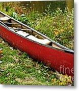 Autumn Canoe Metal Print by Thomas R Fletcher