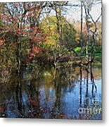 Autumn Colors On The Pond  Metal Print